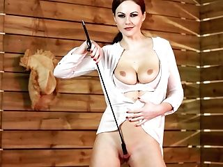 Horny Buxom Nymphomaniac Tina Kay Plays With Coochie And A Lash During Solo