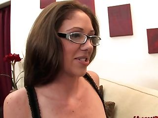 Katie Angel Takes An 11 Inch Milky Dick In Her Mummy Vag!