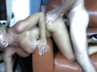 Cougar With Big Natural Tits Takes It Hard.