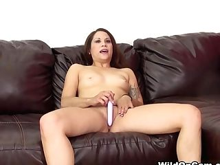 Best Sex Industry Star Katt Lowden In Amazing Solo Lady, Natural Tits Romp Movie