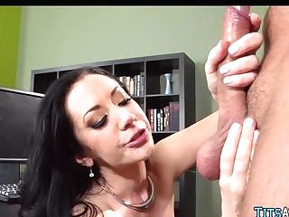 Black-haired Honey Gets Fucked After Hours