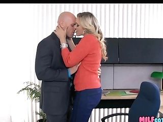 Office Cougar Deepthroats His Meatpipe