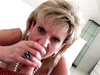 Brit Lady Sonia Finds Friends Sonny On Her Sofa, And Deep Throats His Manmeat