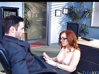 Big Tit Sandy-haired Conducts Interview