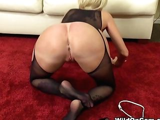 Fabulous Porn Industry Star Joslyn James In Amazing Stockings, Blonde Pornography Scene