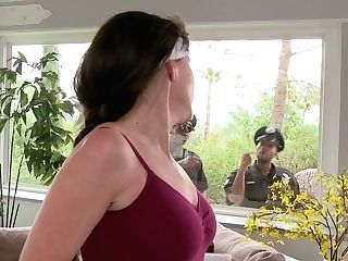 Two Policemen Bang Promiscuous Cougar Alexandra Silk At Her Place
