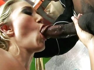 Skanky Blonde Hoe Alana Evans Blows Big Black Cock Before Doggystyle Pounding