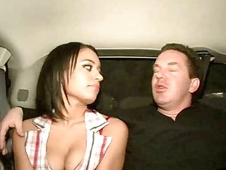 Alianna Love Flashes Her Smooth-shaven Vagina In The Back Seat