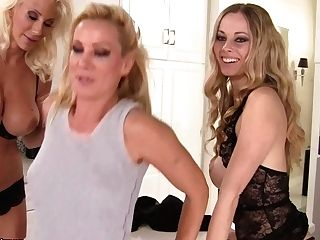 Sultry Swede And Her Friends Are Doing A Hot Photo Shoot In A Kitchen