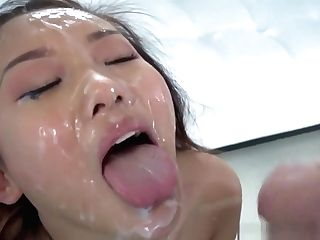 Mass Ejaculation Loving Asian Takes All The Fountains She Can