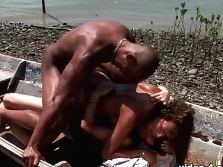 Monaliza In Curly Monaliza Gets Jizm After Hot Outdoor Threesome - Upox