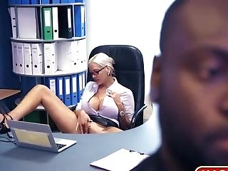 Enormous Chesty Mummy German Interracial Assistant