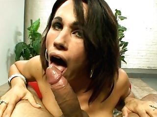 Attractive Brown-haired Crystal Rayne Gets A Jizz Flows On Her Face