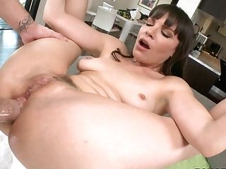 Torrid Brown-haired Wench Dana Loves Getting Her Donk Spread Broad