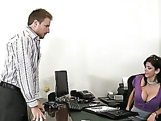Mega Huge-boobed Brown-haired Mommy Alexis Fawx Gives Good Blow-job