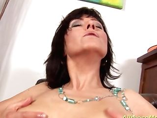 Horny Mom Fondling Her Moist Vag