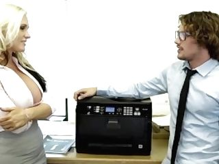 Devilsfilm Plunging Big Titty Cougar At The Office