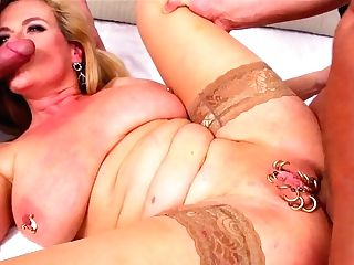 Marina Montana - German Big Saggy Tits Double Penetration Stockings